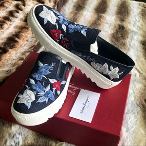 🐲PRICE SET🐲 Ferragamo Egla Denim Slip-On Sneaker